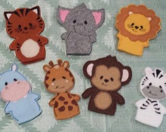 Zoo Animal Puppet Set - Made To Order
