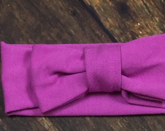 Orchid bow turban