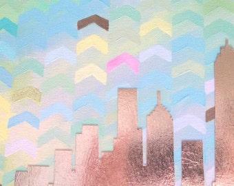 Mixed Media Cityscape