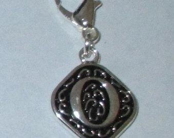 Vintage  Letter O  Dangle  Lobster Claw for Necklace - Bracelets - Key Chains