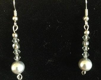 Silver Pearl Dangles