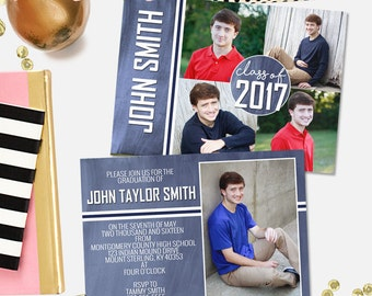PSD senior graduation, invitation card, photoshop template, professional photographers, classic graduation card, senior invitation, grad