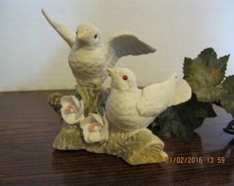 Vintage Love doves ceramic figurine no markings