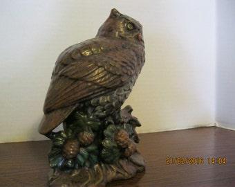 Vintage owl ceramic figurine used