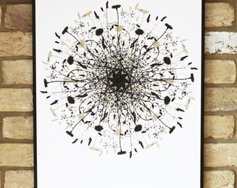 contemporary screen print, hand printed, limited edition poster art