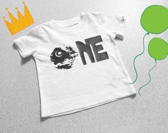 Star Wars ONE birthday shirt, first birthday, star wars birthday shirt