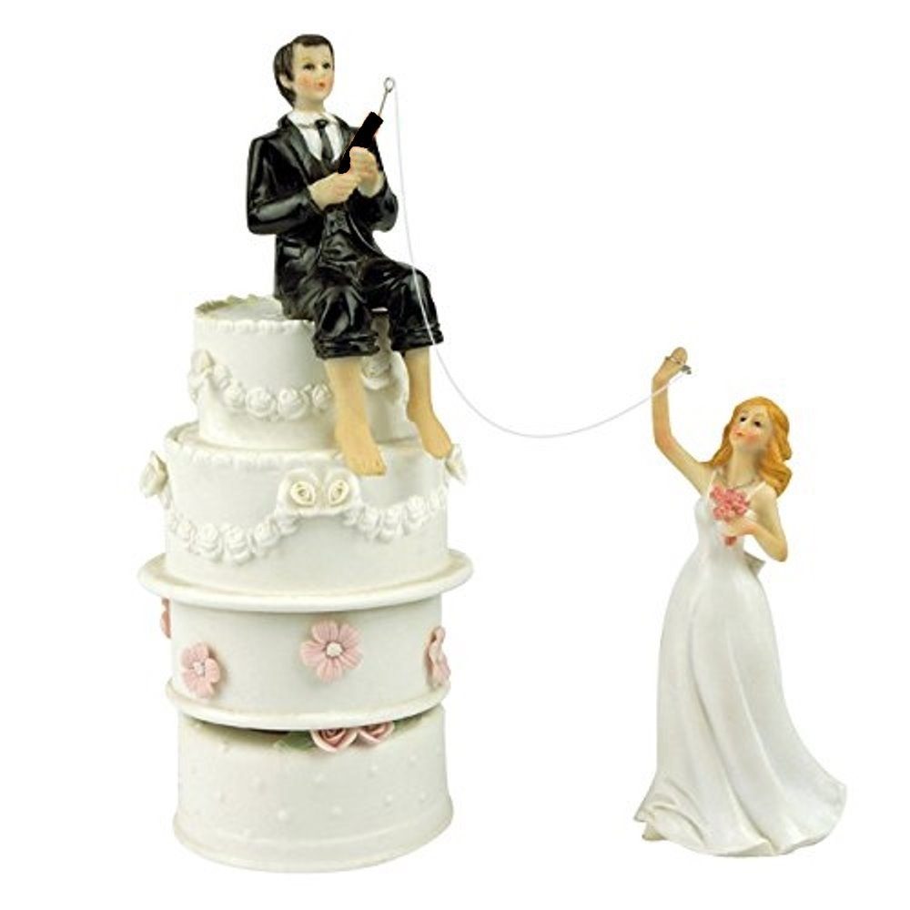 funny wedding cake figures wedding cake toppers fishing groom and by 14568