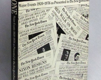 PAGE ONE - Major Events 1920-1976 As Presented in the New York Times VGC