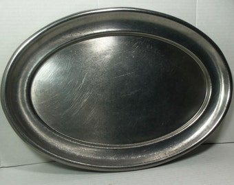 Vintage WWII Military USMC Serving Platter Tray Crusader Ware Stainless Steel Mess Hall