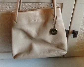 9 West Taupe Leather Purse