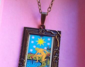 tarot card picture pendant necklace