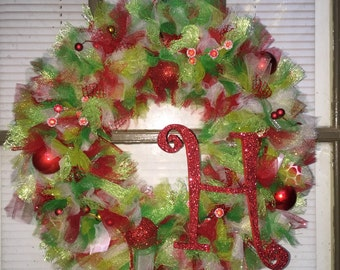 "16"" Tulle Christmas wreath"