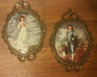 Pair of Vintage Italian Victorian Bubble Glass Italian Classic