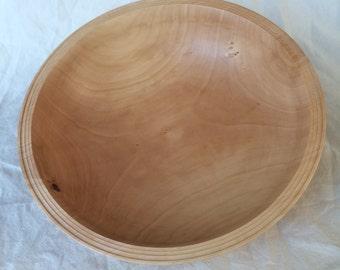 Birch popcorn bowl
