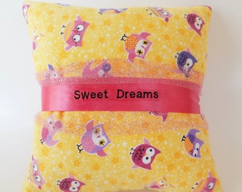 """Owl """"Sweet Dreams"""" Baby Pillow"""