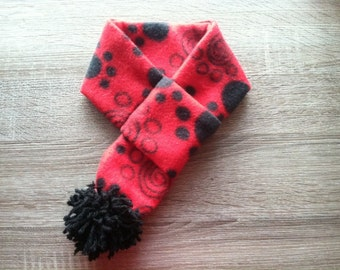 Red Paw Print Winter Scarf