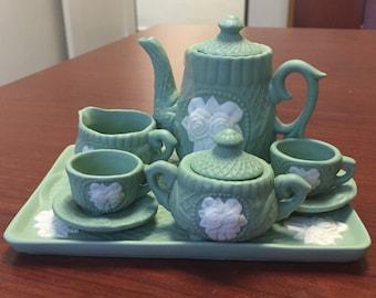 Reduced * Miniature Porcelain/ Bisque Tea Pot Set (6 PC)