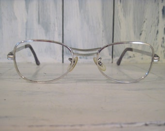 vintage univis 514 usa mid century style 10k gold filled silver color metal eyeglasses frames for men women white gold frame retro eyewear