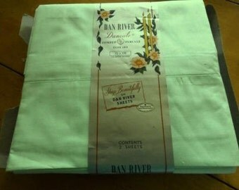 Twin Percale Twin Sheets, Dan River, Vintage Sheets, Vintage Bedding, Bed Sheet, Percale Sheets, Estate Linens, Twin Sheets, Vintage Percale