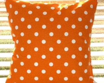 Pillow Cover, Pillow, Orange Pillows,  Decorative Throw Pillow, Decorative Pillow, Polka Dots, Chevron