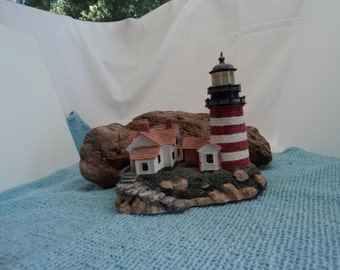 West Quoddy Head Light with Cerificate of Authenticity #145/15,000 Lighthouse Point Collector's Society