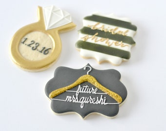 2dz Bridal Shower sugar cookie favors w royal icing