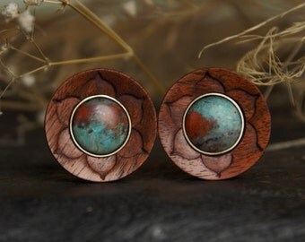 Carving Lotus plugs with Sonora Sunset Inlay