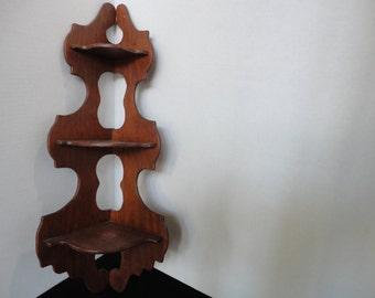Handmade corner shelf