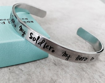 SALE My Son My Soldier My Hero cuff bracelet personalized bracelet army mom navy mom air force mom military jewelry custom monogrammed