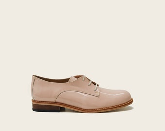 Womens Oxfords, Woman Oxfords, Casual Patent Leather Shoes, Womens Oxfords Shoes, Pink Woman Oxfords Shoes, Flat Leather Shoes
