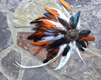 Steampunk Feather Head Piece