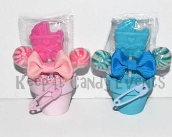 Baby Shower Stroller Lollipop Favors, Its a Girl, Its a Boy, Baby Shower, Favor, Baby Shower Favor, Candy, Lollipop, Baby Shower Favor