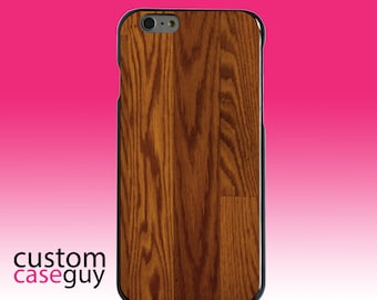 Hard Snap-On Case for Apple 5 5S SE 6 6S 7 Plus - CUSTOM Monogram - Any Colors - Dark Wood Floor Print