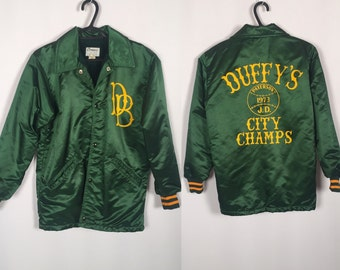 Vintage Satin 70's coat Duffy's City Champs 1973 jacket