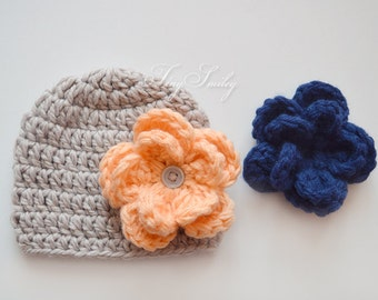 Knitted Baby Girl Hat Cable Baby Girl Hat Cable Knit By