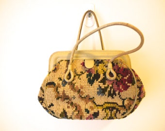 VINTAGE 1960's Hand Embroidered Bag