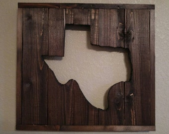Rustic Texas Cut Out