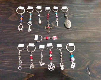 Keychains with Charms - OOAK