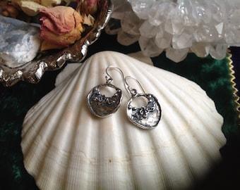 Freeform Crescent Earrings