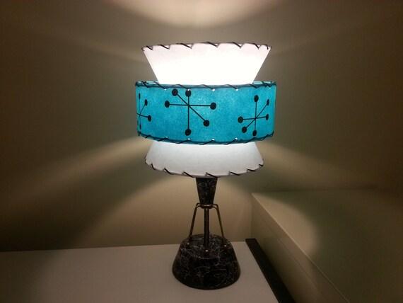 mid century vintage style tapered 3 tier fiberglass lamp shade. Black Bedroom Furniture Sets. Home Design Ideas