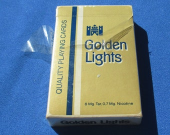Vintage Golden Lights  Advertising Playing Cards