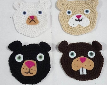 Crocheted Wilderness Critter Coasters
