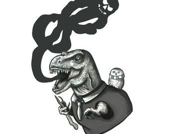 T-Rex Death Eater Print