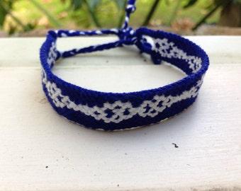 Blue and White Friendship Bracelet