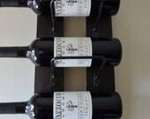 Wine Rack Mini - Espresso finish made from reclaimed wood