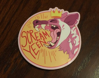 Bad to the Bone Sticker - Scream Yeen