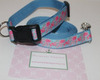 Lilly Pulitzer Inspired Jellies be Jammin Dog Collar