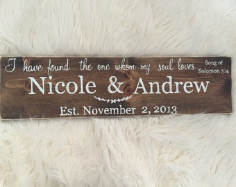 Wreath Bible Quote Wedding Sign