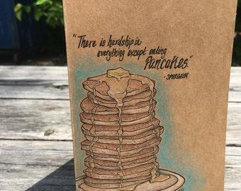 Spurgeon Pancakes Quote - Hand Drawn Card