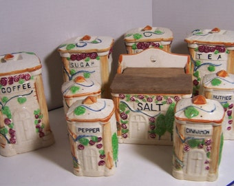 9 pc Canister and Shaker Set